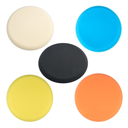 5pk - 9 Foam Cutting Buffing Polishing Finishing Pad Hook and Loop Backingbuffing pad