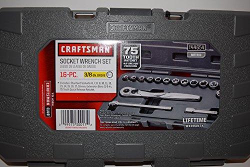 CRAFTSMAN 16 PC METRIC SOCKET WRENCH SET 38 inch drive