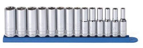 GearWrench 80554 14 Piece 38-Inch Drive 6 Point Deep Metric Socket Set