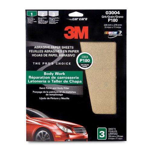 3M 03004 9 x 11 Fine Aluminum Oxide Automotive Sandpaper