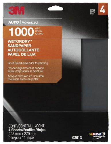 3M 03013 Wetordry 9 x 11 1000 Grit Sandpaper