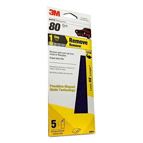 3M Performance Sandpaper 03076 3-23 in x 9 in 80 grit