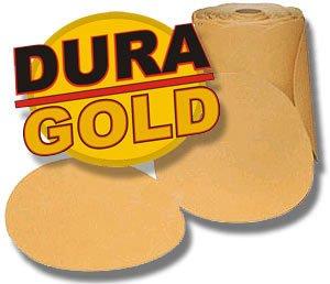 80 Grit DURA-GOLD 6 PSA Discs DA Sander Sandpaper Roll