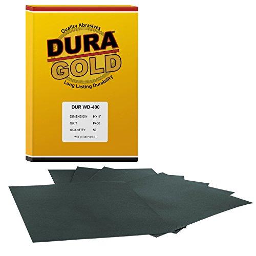 DURA-GOLD 400 Grit 9x11 Wet or Dry Sand Sandpaper-Box