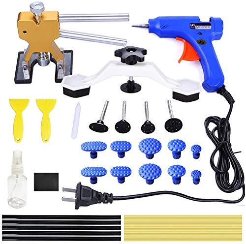 ARISD 32Pcs Auto Body Paintless Dent Removal Tools Kit Glue Gun Dent Lifter Bridge Puller Set For Car Hail Damage And Door Dings Repair
