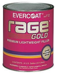 1 Gallon Rage Gold - Premium Lightweight Body Filler - Part FIB 112