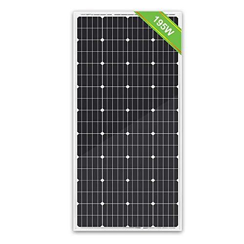 ECO-WORTHY 195W 12V Solar Panel Monocrystalline Module Off Grid PV Power for Battery Charging Boat Caravan RV