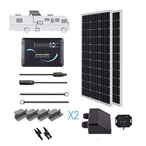 Renogy 200 Watts 12 Volts Monocrystallin Panel Solar RV Kit 200W