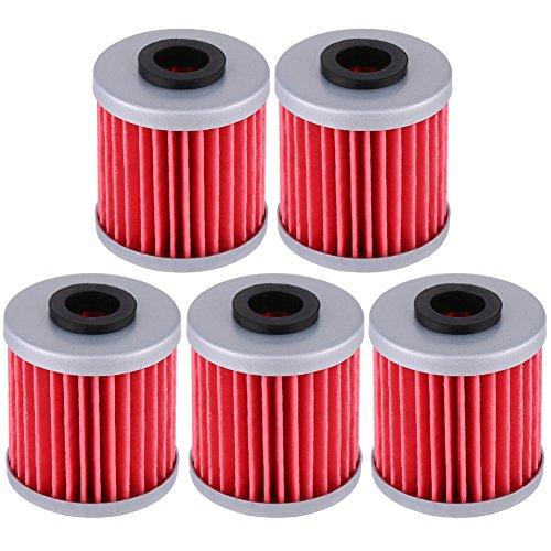 Oil Filter Cuque Engine Oil Filter Car Oil Filter for Beta EVO 250 300 4T REV-4T 250 KX250F Suzuki RM-Z250 RM-Z450 RM-Z450Z Ricky Carmichael Replica5 Pcs