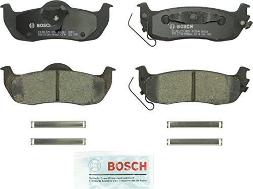 Bosch BC1041 QuietCast Premium Ceramic Disc Brake Pad Set For Infiniti QX56 Jeep Commander Grand Cherokee Nissan Armada Titan Rear