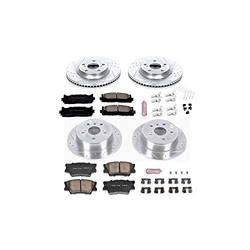 Power Stop K6480 Front Rear Brake Kit with DrilledSlotted Brake Rotors and Z23 Evolution Ceramic Brake Pads