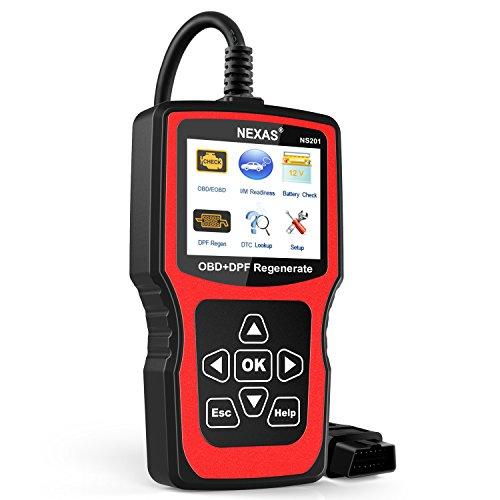 NEXAS NS201 Force DPF Regen OBD2 Scan Tool Check Engine Light Code Reader Diesel Particulate Filter Regeneration Diagnostic Scanner For Diesel Cars Mini Van and Light Duty Trucks