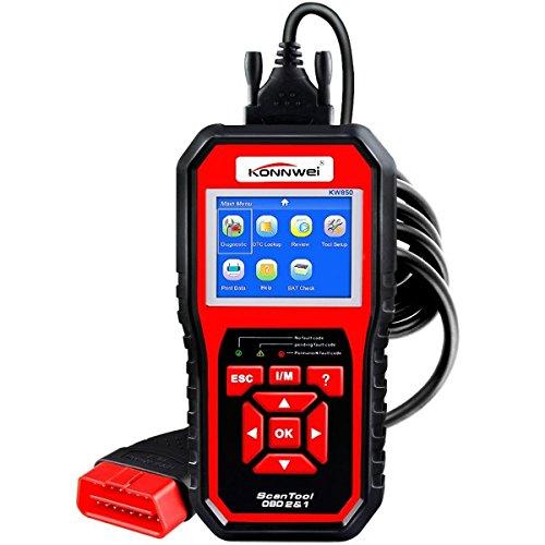 OBDII EOBD Scanner  KONNWEI KW850 OBDII Auto Diagnostic Code Scanner  Car Diagnostic Scanners Tool Check Engine Light Code Reader for all OBD II Protocol Cars