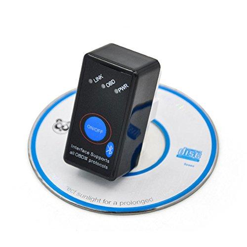 AUTOS-FAMILY Super Mini Bluetooth OBD OBD2 OBDII Bluetooth Firmware V15 With PIC1825K80 Chip Code Reader Diagnostic Tool Model E