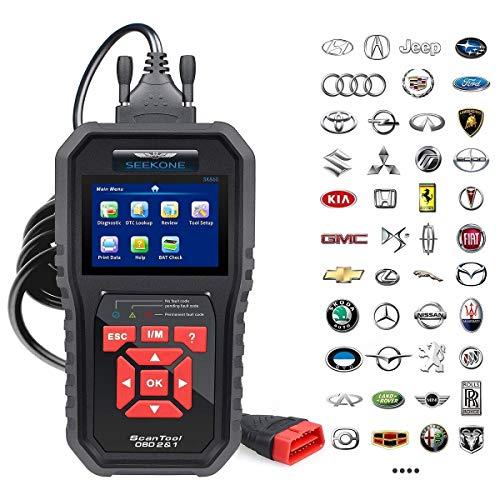 SEEKONE OBD2 Scanner Professional Car OBD II Scanner Auto Diagnostic Fault Code Reader Automotive Check Engine Light Diagnostic EOBD Scan Tool for All OBDII Protocol Cars Since 1996Enhanced SK860