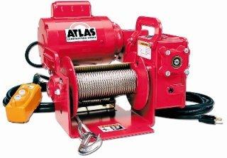 Thern Atlas Construction Worm Gear Power Winch - 115 V Single Phase Atlas-