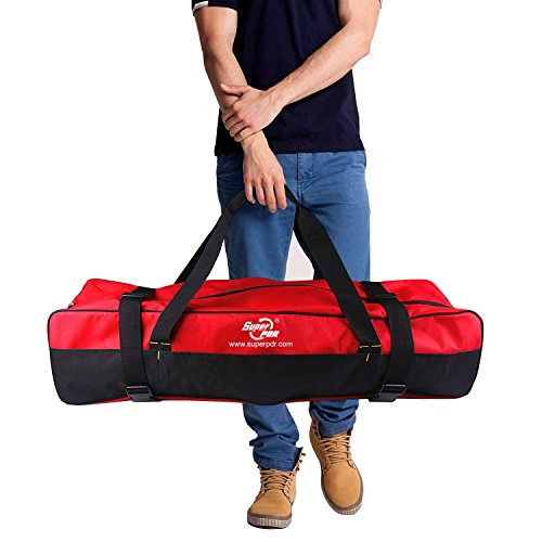 PDR Tool Bag AUTOPDR Multi Purpose Carry Bag Durable Nylon Tool Storage Bag 393inx98inx102in for Car Body Paintless Dent Removal Tools Dent Puller Kit Red&Black