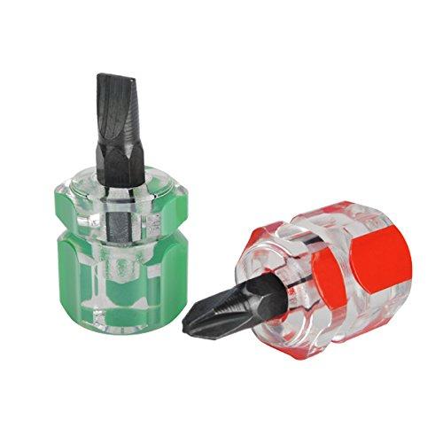 2 Pcs Anti Slip Magnetic Phillip Screwdriver Bits and Single Side Mini Screwdriver
