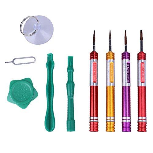 Alloet 8 in 1 Phone Opening Repair Tool Repair Screwdriver Kits for iPhone 7 Metal Screwdriver Set Tools
