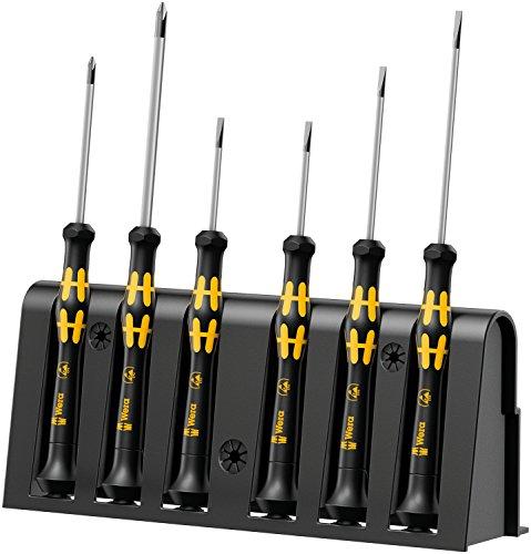 Wera 1578 A6 Electronics Screwdriver Set and Rack 6-Piece Set