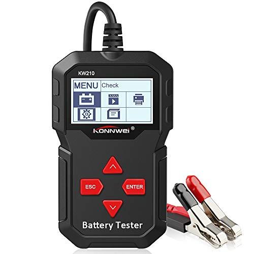 KONNWEI KW210 Car Battery Load Tester 12V 100-2000 CCA 220AH Professional Automotive Alternator Digital Analyzer Waveform Voltage Test Tool for VehicleBoatMotorcycle