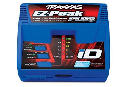 Traxxas 2970 EZ-Peak Plus 4-Amp NiMHLiPo Fast Charger with iD Auto Battery Identification