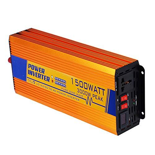 ECO LLC 12V 110V 1500W Pure Sine Wave off Grid Power Inverter Solar Panel Inverter Soft Start Function for System