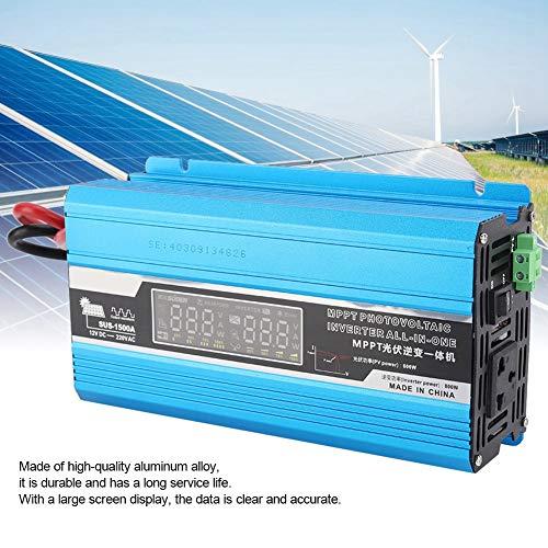 Solar Inverter Household Solar Inverter Charging Integrated Machine Solar Power Controller 12V to 220V 1500W Power Inverter for RV Truck Solar System