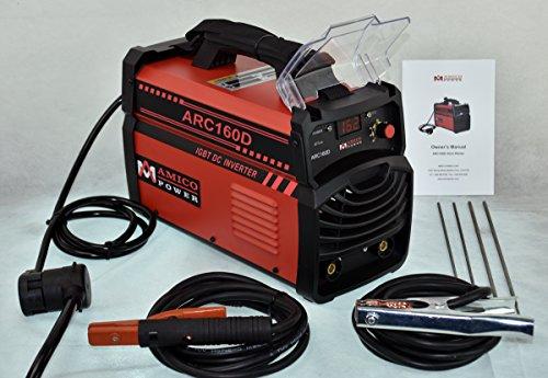 Amico 160 Amp Stick Arc DC Welder IGBT Inverter 230110V Dual Voltage Welding ARC-160D