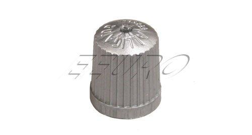 BMW TPMS Wheel Valve Stem Cap set Gray x4 tire air fill screw on cover
