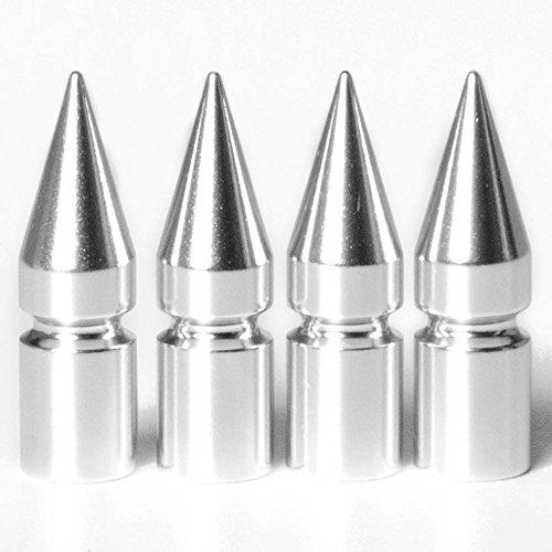 Circuit Performance VC6 Series Silver Aluminum Spiked Valve Stem Caps Set of 4