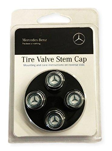 Mercedes Benz Genuine Q-6-40-8131 - Valve STEM CAPS Blue Laurel Wreath