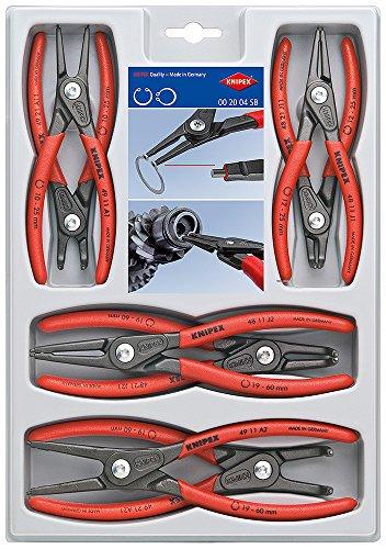 KNIPEX 00 20 04 SB 8-Piece Precision Circlip Snap-Ring Pliers Set