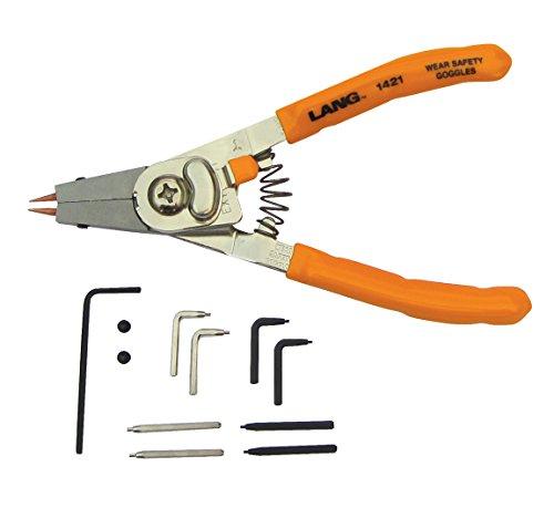 Lang Tools 1421 InternalExternal Quick Switch Retaining Ring Pliers
