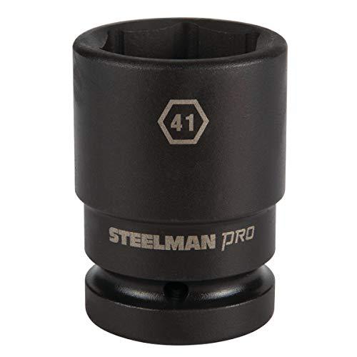 STEELMAN PRO 79357 1-Inch Drive x 41mm 6-Point Thin Wall Deep Impact Socket