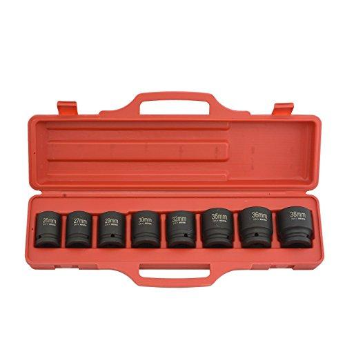 Professional Quality 34 Dr Shallow Impact Socket Set - MM