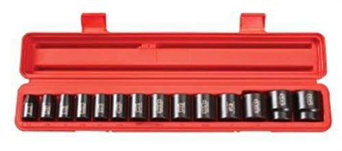4816 12 Drive Shallow Impact Socket Set 38-1-14 SAE Cr-V 14 Soc