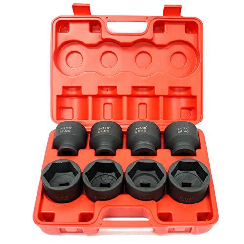 8pc 34 Drive Jumbo Large Shallow Impact Socket Set 6 Point SAE 2-16 to 2-12Jikkolumlukka