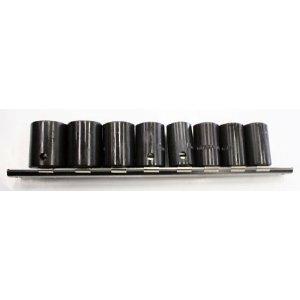 9 Pc Shallow Impact Sockets Set 12 Drive Sae