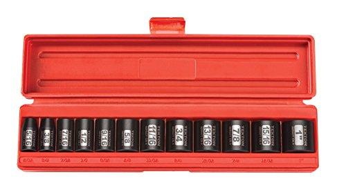 TEKTON 38-Inch Drive Shallow Impact Socket Set Inch Cr-V 12-Point 516-Inch - 1-Inch 12-Sockets  47911 Renewed
