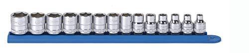 GearWrench 80552 14 Pc 38 Drive 6 Point Metric Standard Socket Set