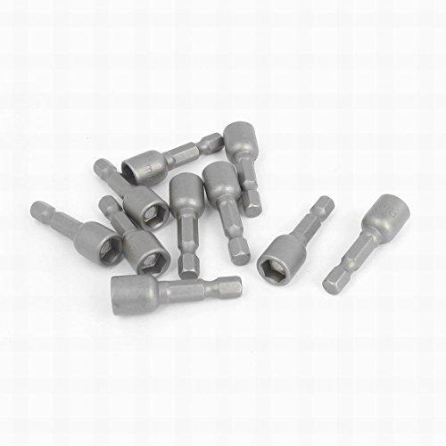 MariaP Hexagon Shank 8mm Hex Socket Magnetic Nut Setter Driver Bit 10pcs