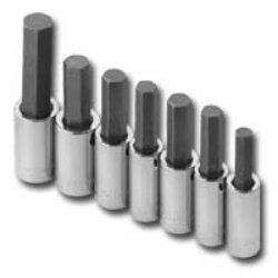 S K Hand Tools SKT41227 50in Drive SAE Hex Bit Socket Set - 7 Pieces
