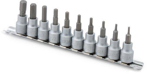 Titan Tools 16133 38 Drive SAE Hex Bit Socket Set - 10 Piece